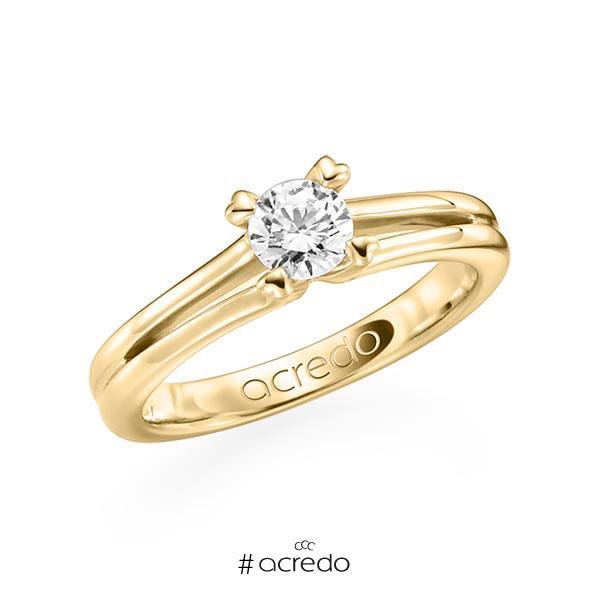 Verlobungsring in Gelbgold 585 mit 0,5 ct. Brillant w, si von acredo