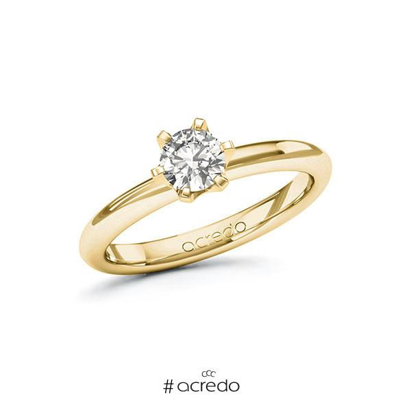 Verlobungsring in Gelbgold 585 mit 0,5 ct. tw, si von acredo