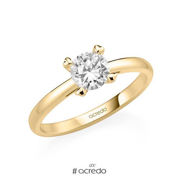 Verlobungsring in Gelbgold 585 mit 0,7 ct. Brillant tw, si von acredo