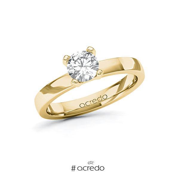 Verlobungsring in Gelbgold 585 mit 0,7 ct. Brillant tw, vs von acredo