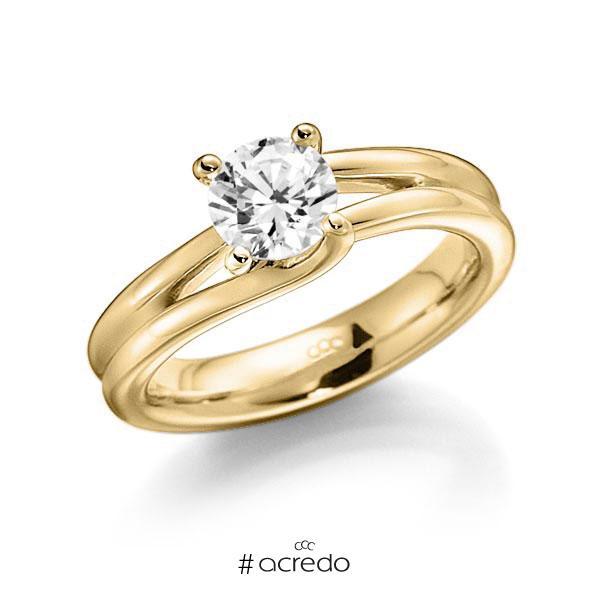 Verlobungsring in Gelbgold 585 mit 0,7 ct. Brillant w, si von acredo