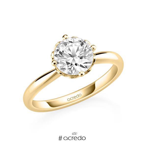 Verlobungsring in Gelbgold 585 mit 1,5 ct. Brillant tw, si von acredo