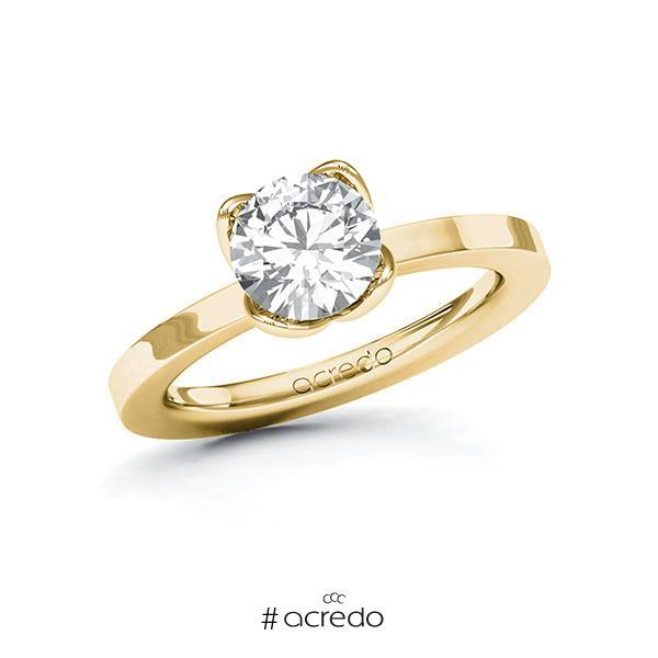 Verlobungsring in Gelbgold 585 mit 1,5 ct. Brillant tw, vs von acredo