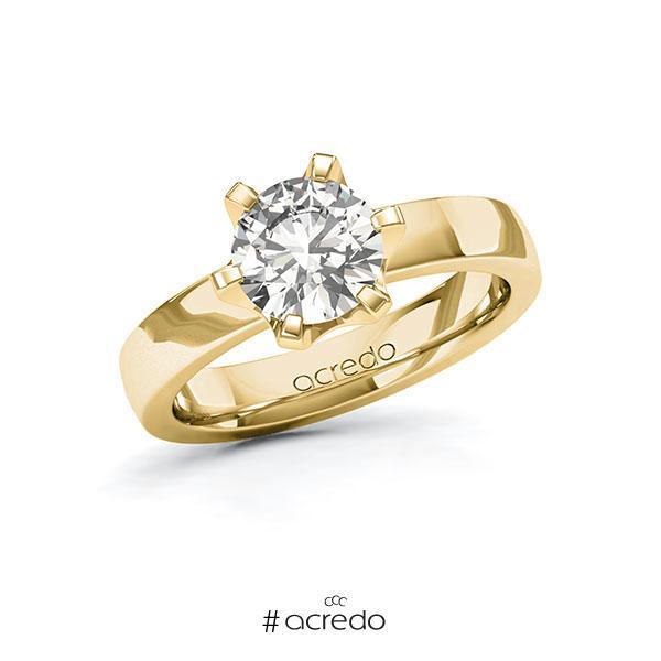 Verlobungsring in Gelbgold 585 mit 1,5 ct. tw, si von acredo