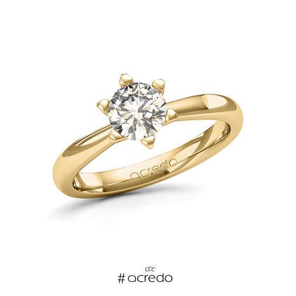 Verlobungsring in Gelbgold 585 mit 1 ct. Brillant tw, si von acredo