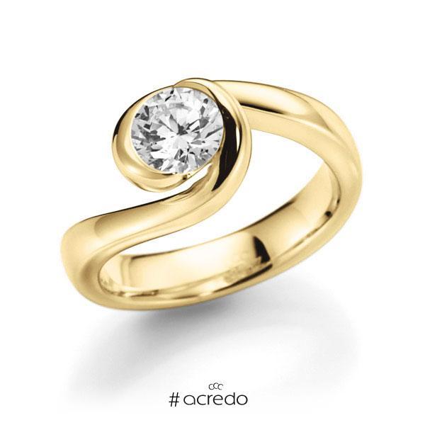 Verlobungsring in Gelbgold 585 mit 1 ct. Brillant tw, vs von acredo