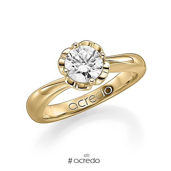 Verlobungsring in Gelbgold 585 mit 1 ct. Brillant w, si von acredo