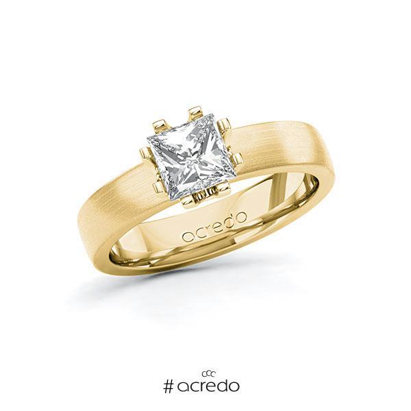 Verlobungsring in Gelbgold 585 mit 1 ct. Prinzess-Diamant tw, vs von acredo