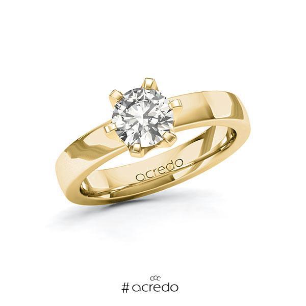 Verlobungsring in Gelbgold 585 mit 1 ct. tw, si von acredo