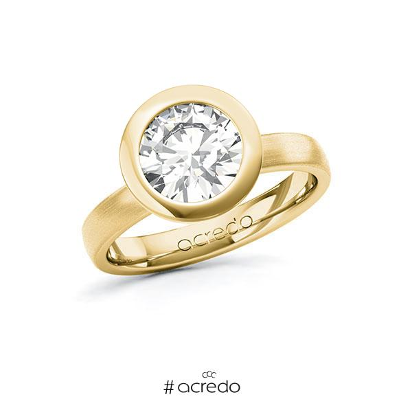 Verlobungsring in Gelbgold 585 mit 2 ct. Brillant tw, vs von acredo