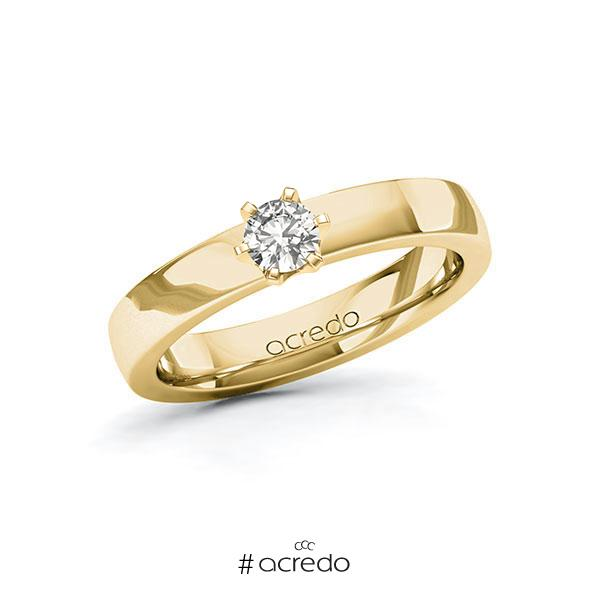 Verlobungsring in Gelbgold 585 mit zus. 0,25 ct. tw, si von acredo