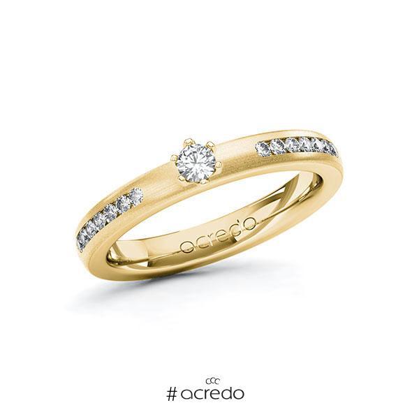 Verlobungsring in Gelbgold 585 mit zus. 0,31 ct. Brillant tw, si von acredo