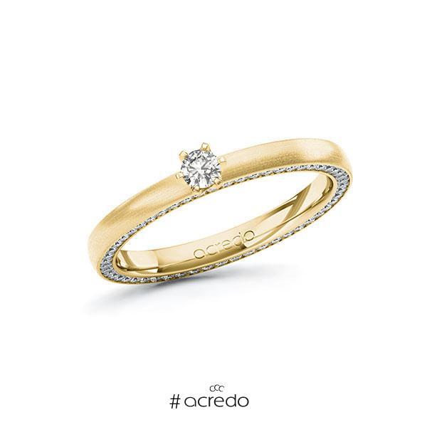 Verlobungsring in Gelbgold 585 mit zus. 0,39 ct. tw, si von acredo