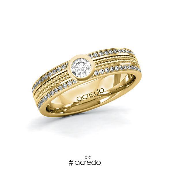Verlobungsring in Gelbgold 585 mit zus. 0,49 ct. Brillant tw, si von acredo