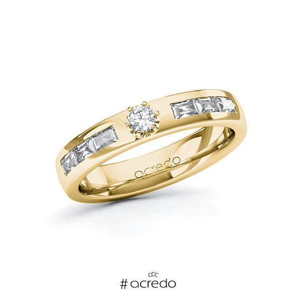 Verlobungsring in Gelbgold 585 mit zus. 0,58 ct. Brillant tw, si tw, vs von acredo
