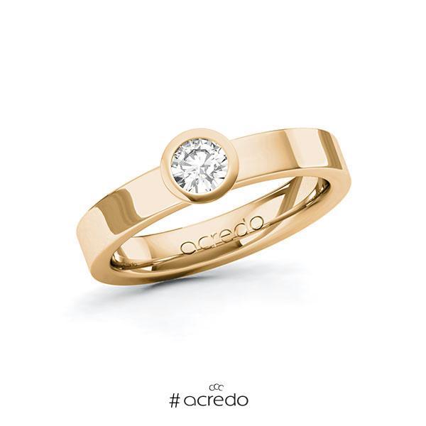 Verlobungsring in Roségold 585 mit 0,3 ct. Brillant tw, si von acredo