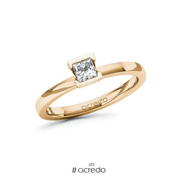 Verlobungsring in Roségold 585 mit 0,3 ct. Prinzess-Diamant tw, vs von acredo
