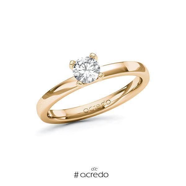 Verlobungsring in Roségold 585 mit 0,4 ct. Brillant tw, si von acredo