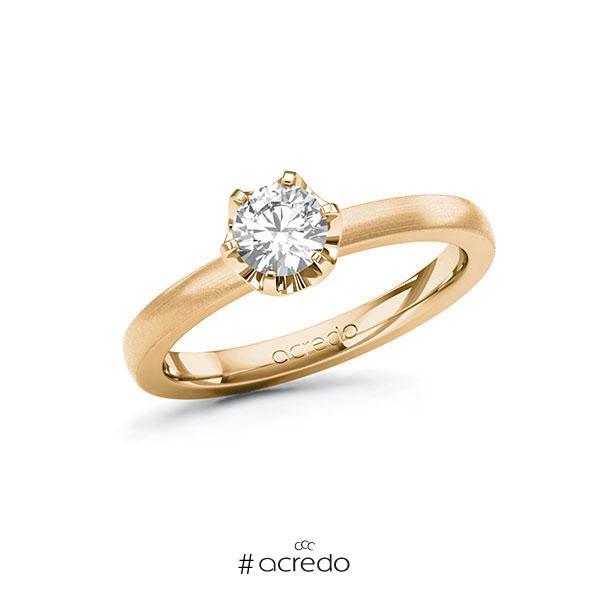 Verlobungsring in Roségold 585 mit 0,5 ct. Brillant tw, si von acredo