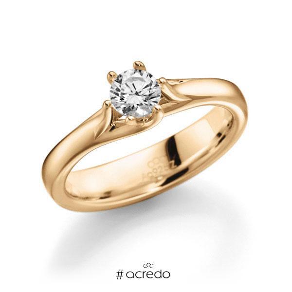Verlobungsring in Roségold 585 mit 0,5 ct. Brillant tw, vs von acredo