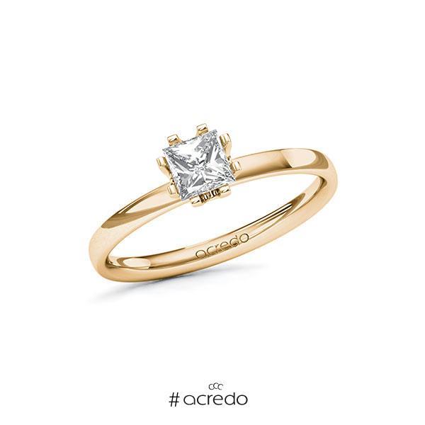 Verlobungsring in Roségold 585 mit 0,5 ct. Prinzess-Diamant tw, vs von acredo