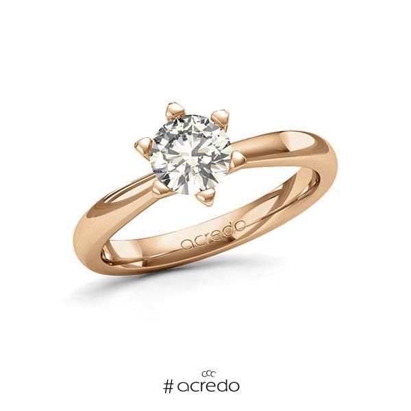Verlobungsring in Roségold 585 mit 0,7 ct. Brillant tw, si von acredo