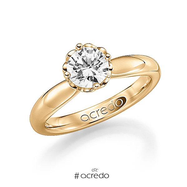 Verlobungsring in Roségold 585 mit 0,7 ct. Brillant w, si von acredo