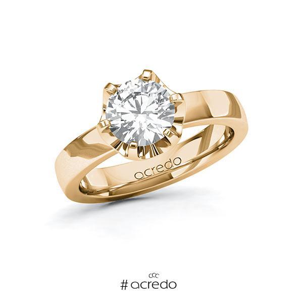 Verlobungsring in Roségold 585 mit 1,5 ct. Brillant tw, si von acredo