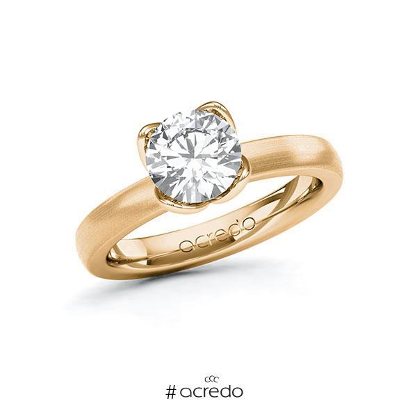 Verlobungsring in Roségold 585 mit 1,5 ct. Brillant tw, vs von acredo