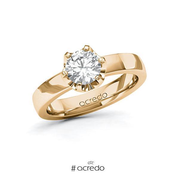 Verlobungsring in Roségold 585 mit 1 ct. Brillant tw, si von acredo