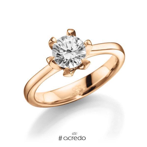 Verlobungsring in Roségold 585 mit 1 ct. Brillant tw, vs von acredo