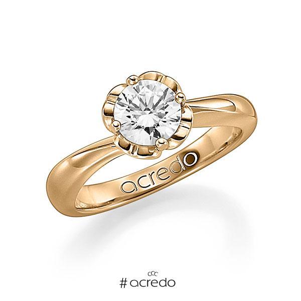 Verlobungsring in Roségold 585 mit 1 ct. Brillant w, si von acredo