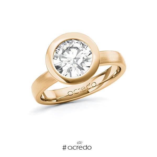 Verlobungsring in Roségold 585 mit 2 ct. Brillant tw, vs von acredo