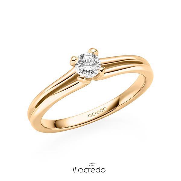 Verlobungsring in Roségold 585 mit zus. 0,15 ct. Brillant tw, si von acredo