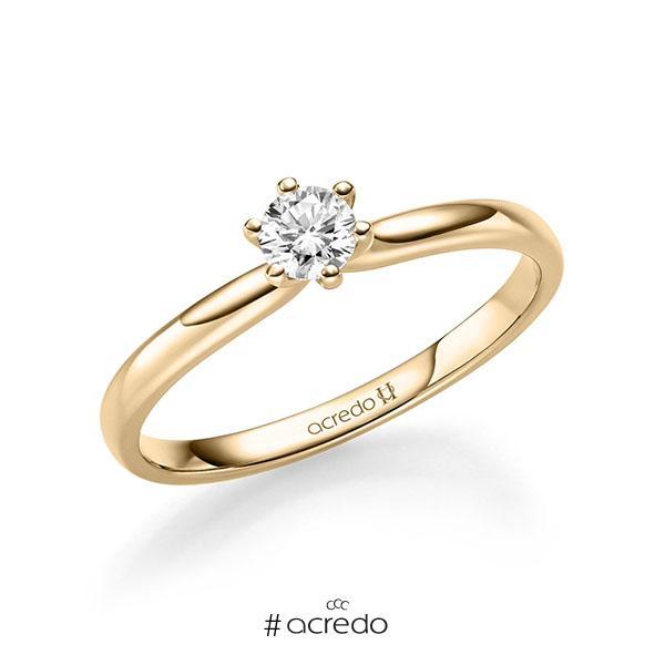 Verlobungsring in Roségold 585 mit zus. 0,2 ct. Brillant tw, si von acredo