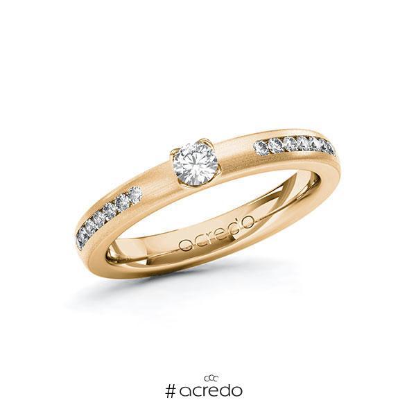 Verlobungsring in Roségold 585 mit zus. 0,36 ct. Brillant tw, si von acredo