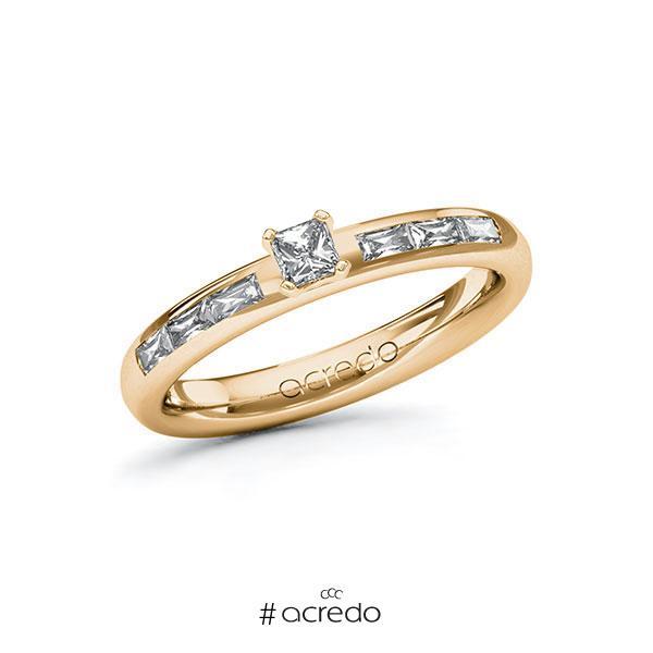 Verlobungsring in Roségold 585 mit zus. 0,45 ct. Brillant tw, vs von acredo