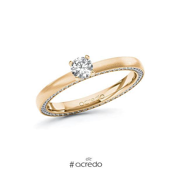Verlobungsring in Roségold 585 mit zus. 0,54 ct. Brillant tw, si von acredo