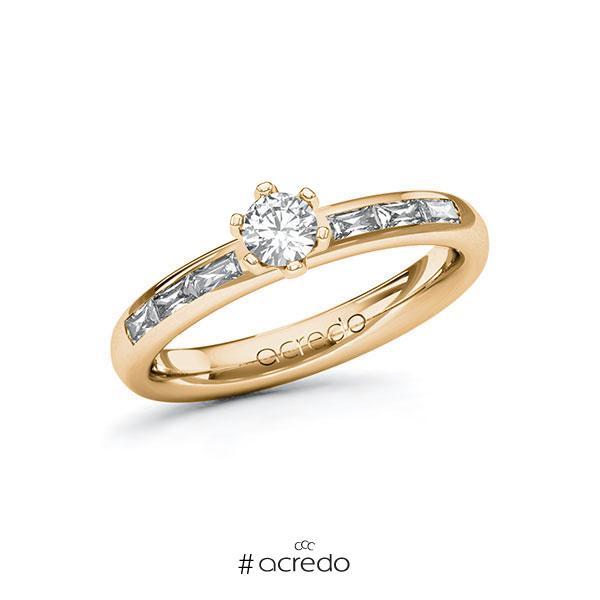 Verlobungsring in Roségold 585 mit zus. 0,55 ct. Brillant tw, vs von acredo