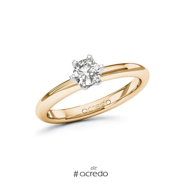 Verlobungsring in Roségold 585 Weißgold 585 mit 0,4 ct. tw, si von acredo