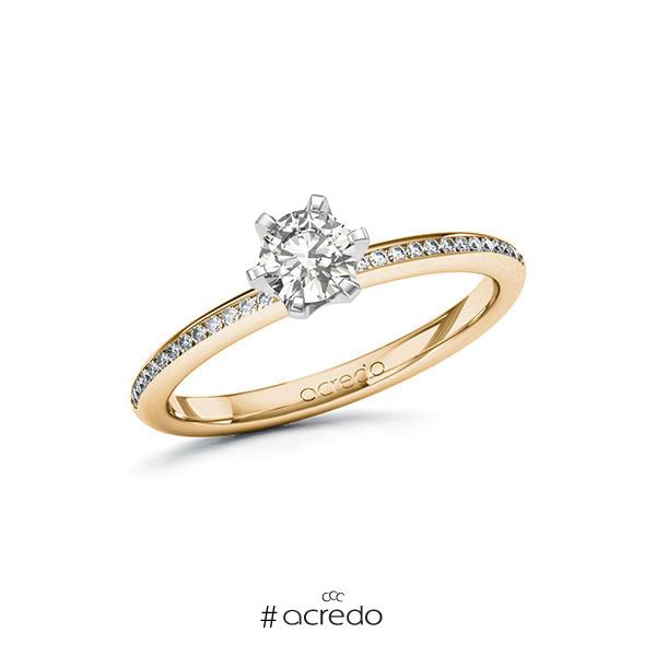 Verlobungsring in Roségold 585 Weißgold 585 mit 0,4 ct. + zus. 0,13 ct. tw, vs tw, si von acredo