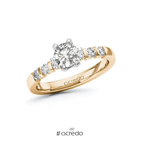 Verlobungsring in Roségold 585 Weißgold 585 mit 0,7 ct. + zus. 0,3 ct. tw, si von acredo