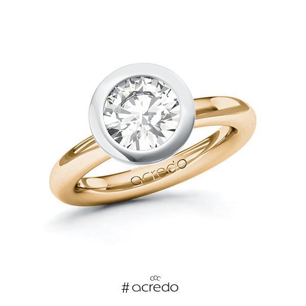 Verlobungsring in Roségold 585 Weißgold 585 mit 2 ct. Brillant tw, vs von acredo