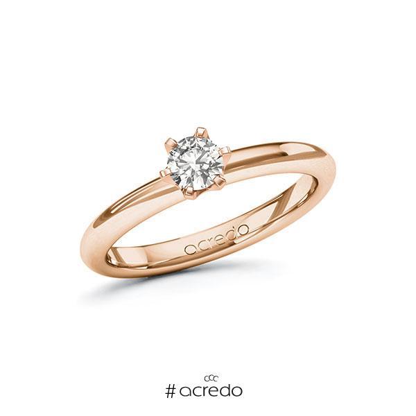 Verlobungsring in Rotgold 585 mit 0,3 ct. tw, si von acredo
