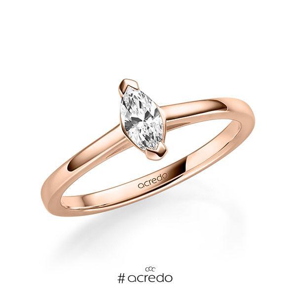 Verlobungsring in Rotgold 585 mit 0,3 ct. tw, vs von acredo