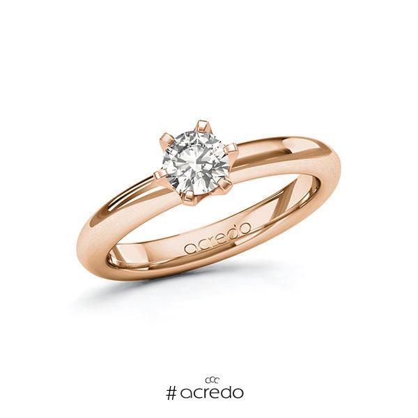 Verlobungsring in Rotgold 585 mit 0,5 ct. tw, si von acredo