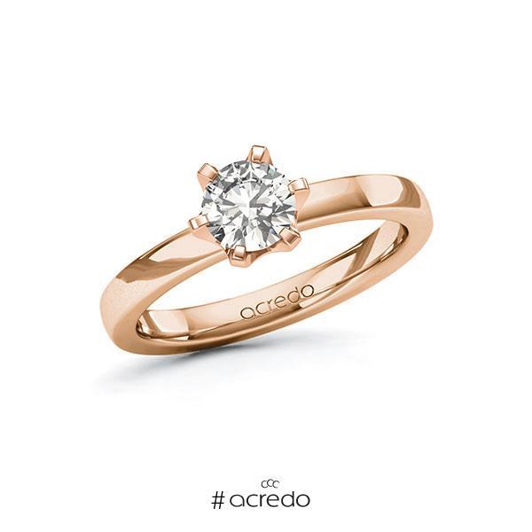 Verlobungsring in Rotgold 585 mit 0,7 ct. tw, si von acredo
