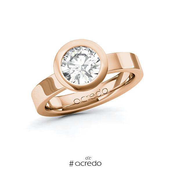 Verlobungsring in Rotgold 585 mit 1,5 ct. Brillant tw, vs von acredo