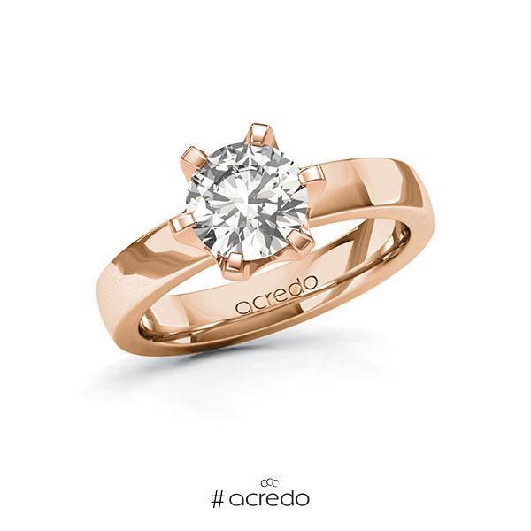 Verlobungsring in Rotgold 585 mit 1,5 ct. tw, si von acredo