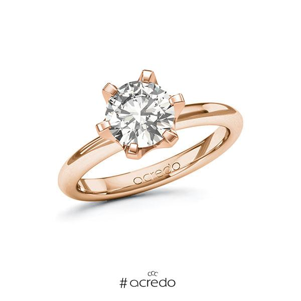 Verlobungsring in Rotgold 585 mit 1,5 ct. tw, vs von acredo